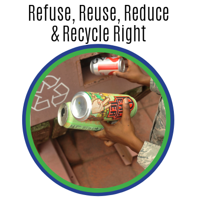 Refuse, Reuse, Reduce and Recycle Right