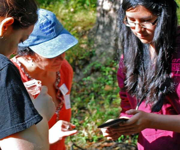 Creek Critters refers to both a nature app and an engagement activity. The free Creek Critters® app is used with groups as a tool for education, community science and outreach. You can also search for critters with family and friends.
