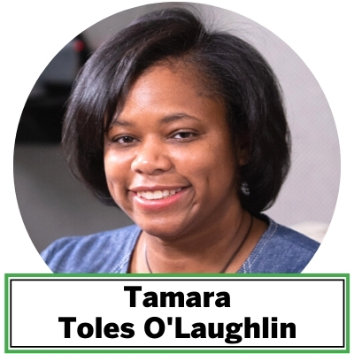 Tamara Toles O'Laughlin is an environmental advocate focused on people and planet. Her niche in environmental work is developing capacity building programs and creating multimedia campaigns to dismantle privilege and increase opportunities for vulnerable populations to access healthy air, clean energy, and a toxic free economy at the local, regional and national level.