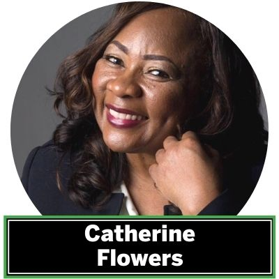 Catherine C. Flowers is an environmental activist bringing attention to the largely invisible problem of inadequate waste and water sanitation infrastructure in rural communities in the United States. As founding director of the Center for Rural Enterprise and Environmental Justice (formerly the Alabama Center for Rural Enterprise), Flowers builds partnerships across social scales—from close neighbors, to local elected officials and regional nonprofits, to federal lawmakers and global organizations—to identify and implement solutions to the intersecting challenges of water and sanitation infrastructure, public health, and economic development.