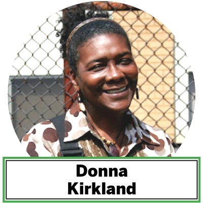 Newark native Donna Kirkland joined The Trust for Public Land in 2006 as an intern for the Parks for People - Newark program and became a full-time staffer a year later. Kirkland engages youth and community members in participatory design and long-term stewardship of The Trust for Public Land's completed and future parks and playgrounds. She works closely with community-based committees at project sites to help them grow into their role as local stewards. She is also a liaison with schools, local government, police, and other organizations. Kirkland's experience includes hospice work, running summer art programs, teaching children with behavioral challenges, Art Director for Street Warriors, Inc., Girl Scout team leader, and American Cancer Society Relay for Life team leader.