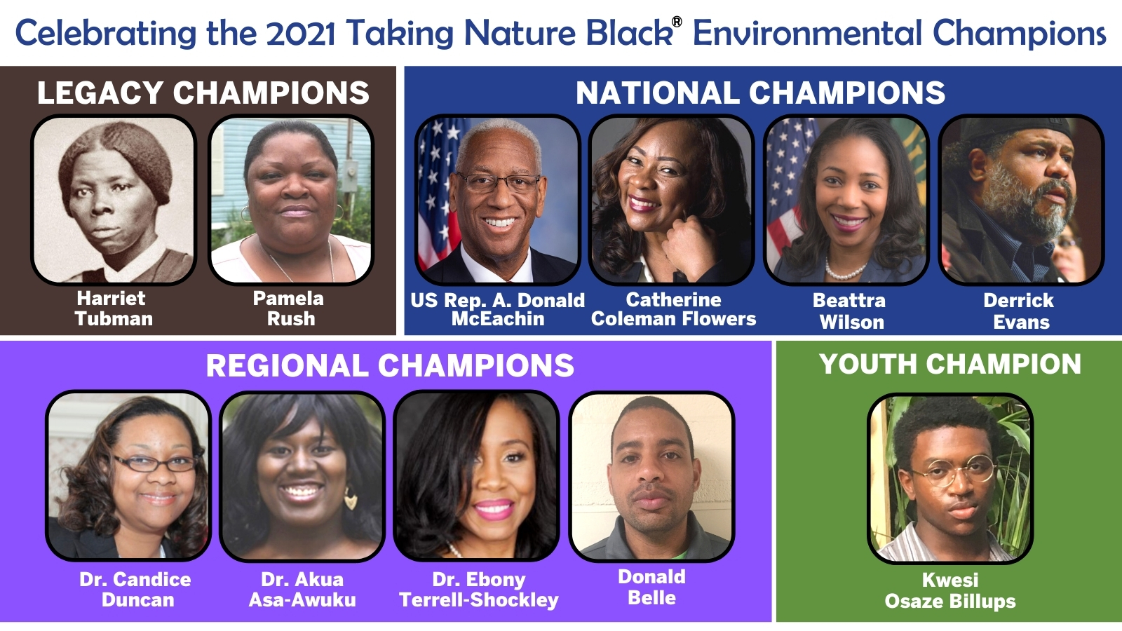 2021 Taking Nature Black Environmental Champions